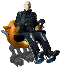 Charles Xavier with pumpkinbot
