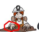 Digger chan broke her nails