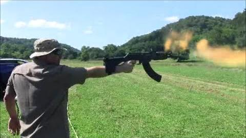 AK 47 one hand full auto