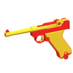 Luger P08 - Red Toy