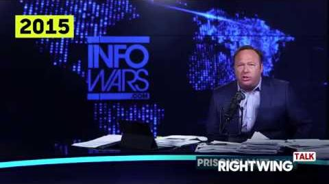 "Alex Jones Chemicals in the water are turning ""the freaking frogs gay."""