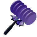 Toy hammer batwing icon
