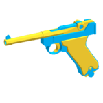 Luger P08 - Blue Toy