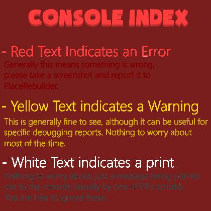 CONSOLE INDEX