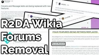 R2DA WIKIA FORUMS ARE GETTING REMOVED