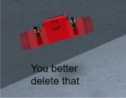 You better delete that