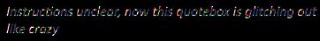 Error quotebox