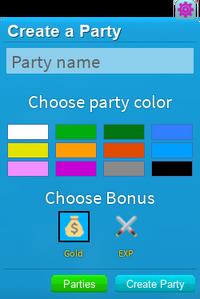 PartySystemCreate