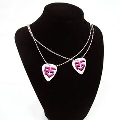 Guitar pick necklace (white)