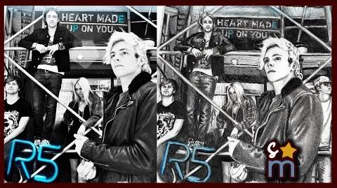 "R5 ""Heart Made Up On You"" EP Cover Drawing - Shine On Sketches"