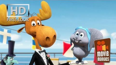 Rocky & Bullwinkle Short FIRST LOOK clip (2014) Mr. Peabody & Sherman-0