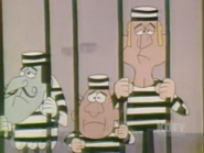 Snidely Rollo and Dudley in prison