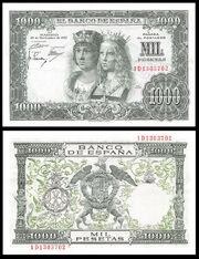 1000 Spanish pesetas