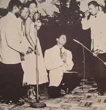 The Platters performing