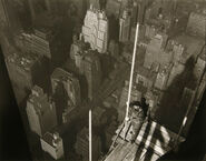 Raising the Mast Empire State Building by Lewis W Hine