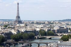 Seine and Eiffel Tower from Tour Saint Jacques 2013-08