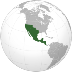 First Mexican Empire (orthographic projection)