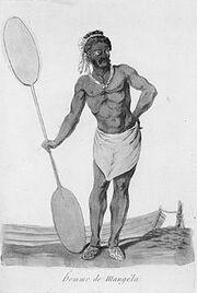 Webber, John, 1751-1793. Homme de Mangela. Paris, 1796