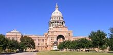 Texas State Capitol building-front left front oblique view