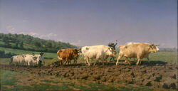 Rosa Bonheur - Ploughing in Nevers - Google Art Project