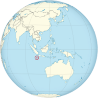 Christmas Island on the globe (Southeast Asia centered).png