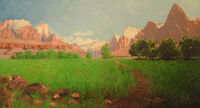 1903 painting of Zion Canyon by Dellenbaugh
