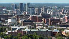 Birmingham cityscape view 2010