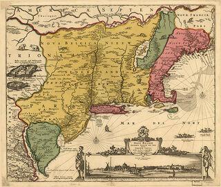 Map-Novi Belgii Novæque Angliæ (Amsterdam, 1685)