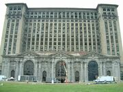 Michigan Central Train Station Exterior 2005