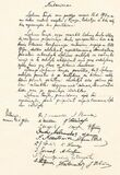 Original Act of Independence of Lithuania hand-written in Lithuanian language