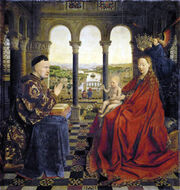 Virgin with Chancellor Rolin Luber