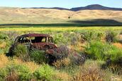 A339, abandoned car, Palisade, Nevada, USA, 2011