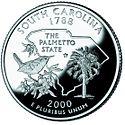 South Carolina quarter, reverse side, 2000