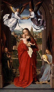 Gerard David - Virgin and Child with Four Angels - WGA6036