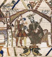 Bayeux Tapestry scene1 EDWARD REX