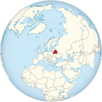 Belarus on the globe (Europe centered).png
