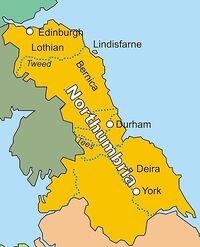 Kingdom of Northumbria in AD 802