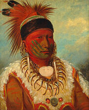 George Catlin - The White Cloud, Head Chief of the Iowas - Google Art Project