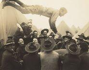 Lewis Hine, Soldier Thrown in Air, 1917, NGA 92317