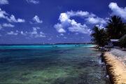 Tuvalu Funafuti atoll beach