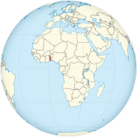 Togo on the globe (Africa centered).png