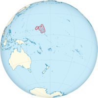 Marshall Islands on the globe (small islands magnified) (Polynesia centered).png