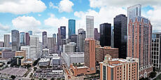Panoramic Houston skyline