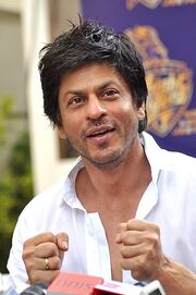 Shahrukh interacts with media after KKR's maiden IPL title