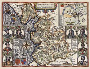 Lancashire 1610 Speed Hondius - Restoration
