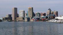 Bmore skyline inner harbor