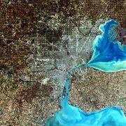 Large Detroit Landsat
