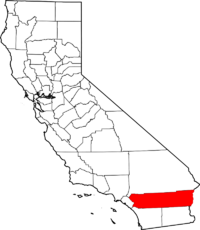 Map of California highlighting Riverside County