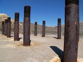 Mill foundation, Gold Center, Nevada