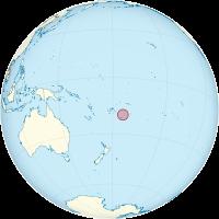 Tonga on the globe (Polynesia centered).png
